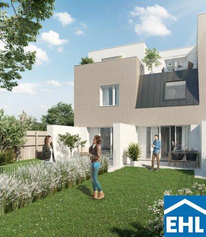 Familiäres Wohnen: Eck-Reihenhaus mit 4 Zimmern, Terrasse, Garten und Dachterrasse