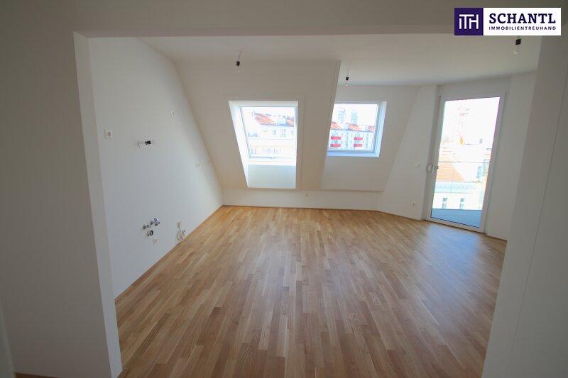 Echt cool!!! 3 Zimmer Erstbezug im Dachgeschoss mit sonniger Terrasse und Tiefgarage! Provisionsfrei!!!