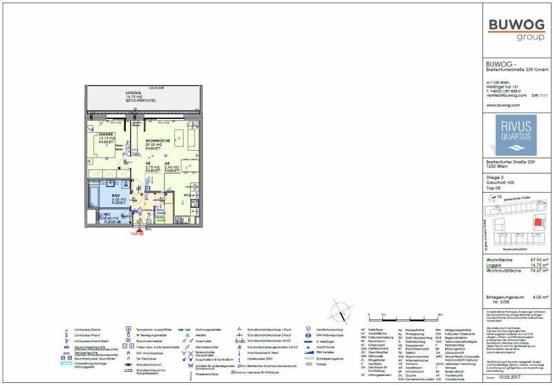 ERSTBEZUG & UNBEFRISTET: Großzügige 2-Zimmer-Wohnung im 5. Stock mit Innenhof-Loggia und Gemeinschafts-POOL am Dach - PROVISIONSFREI /  / 1230Wien / Bild 2