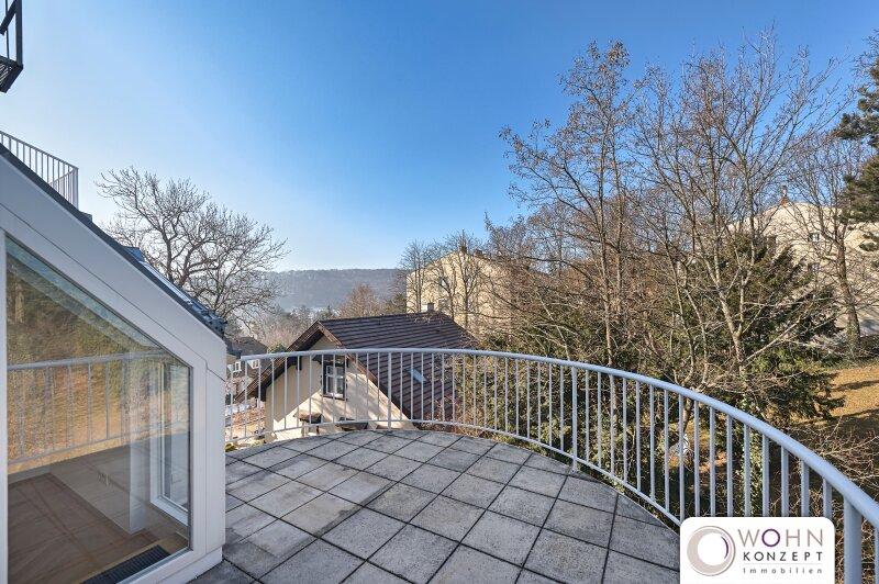 EXKLUSIVE 3 ZIMMER DG-Wohnung mit 13m² Terrasse auf der Wohnebene sowie 80m² Dachterasse