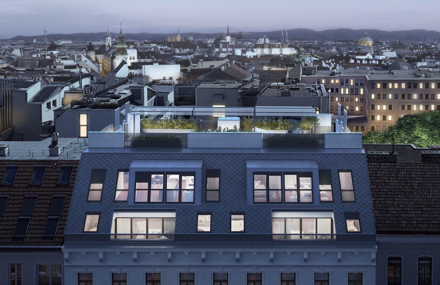 KAISERSTRASSE34|Luxus über den Dächern Wiens (Projektansicht)