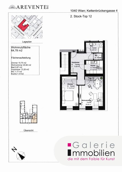 Hochwertige Altbauwohnung mit SW-Ausrichtung in revitalisiertem Biedermeierhaus Objekt_31849 Bild_462