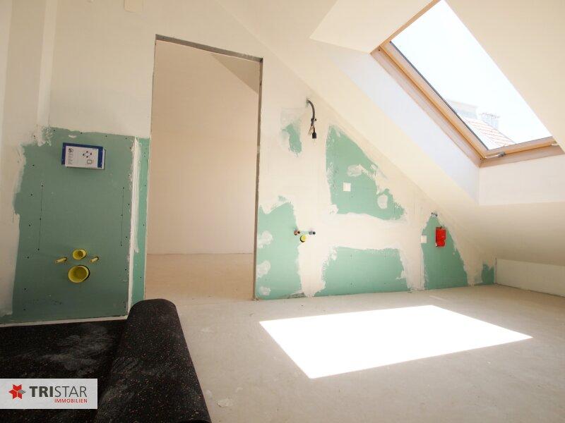 Hochwertig errichtete 3 Zimmer DG-Wohnung mit großer Wohnküche, Bad, separater Toilette und Terrasse, in wunderschöner Innenhofruhelage! /  / 1100Wien / Bild 7