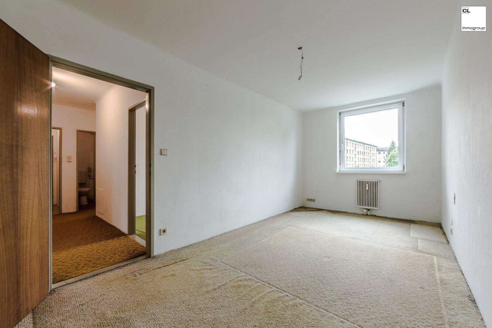 Schlaftimmer 1 - ruhige 3-Zimmer-Wohnung in Salzburg zu kaufen www.cl-immogroup.at