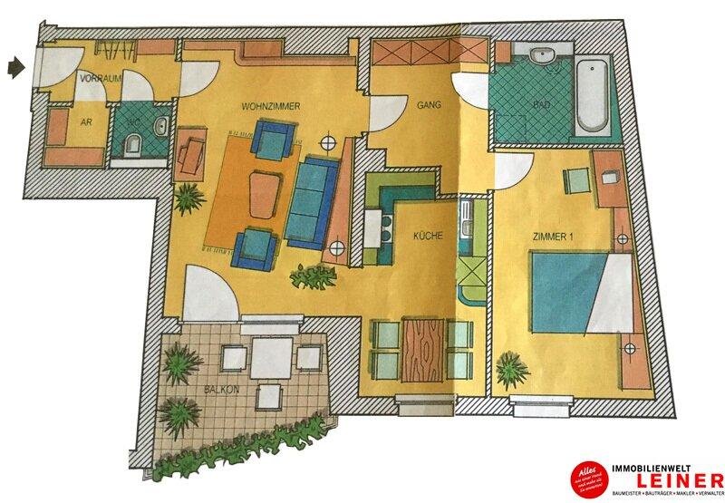Schwechat: freundliche 2 Zimmer Eigentumswohnung im Zentrum Objekt_11274 Bild_693