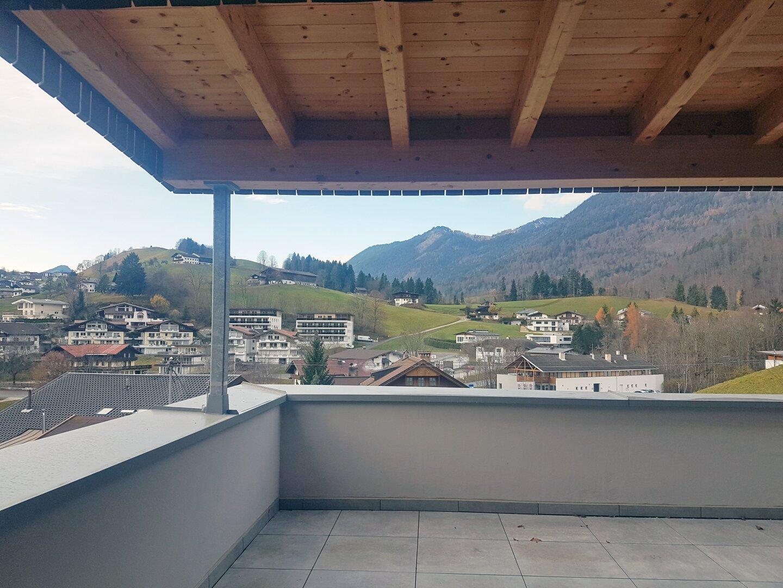 Ausblick Terrasse, Wohnung Dachgeschoss Thiersee