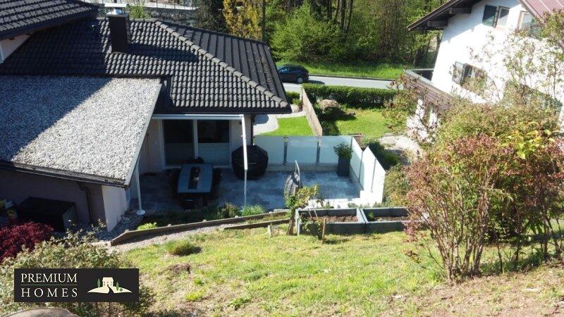 Kirchbichl Zweifamilienhaus_ verwirklichte Ideen der Gemütlichkeit_Garten_Ansicht Nordwesten