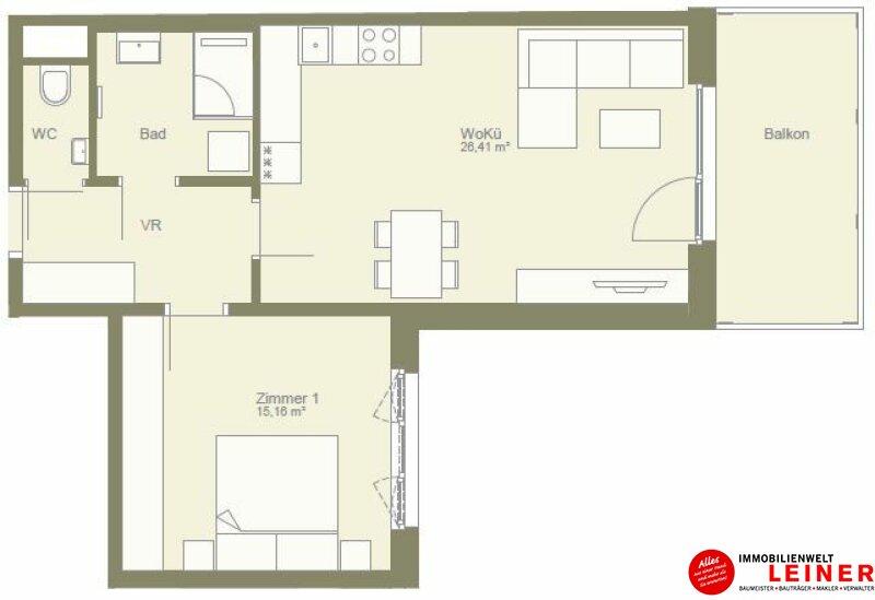 Hier ist alles neu! 2 Zimmerwohnung gartenseitig ausgerichtet Objekt_10163 Bild_24