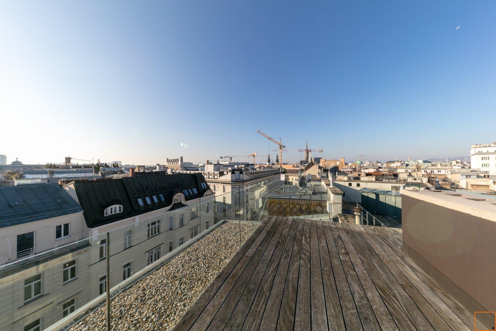 Ausblick Dachterrasse zweite Ebene