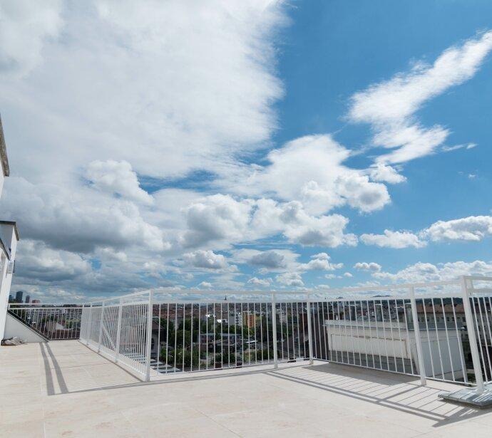 Erstbezug: Echtes Penthouse mit großer Sonnenterrasse - Herrlicher Fernblick - Hochwertige Ausstattung