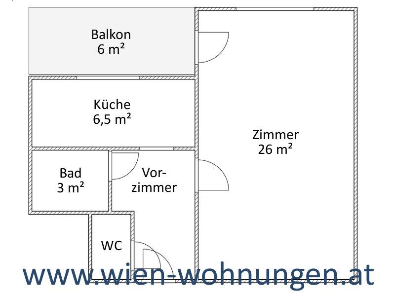 Günstige Garconniere mit Balkon und separater Küche /  / 1200Wien / Bild 4
