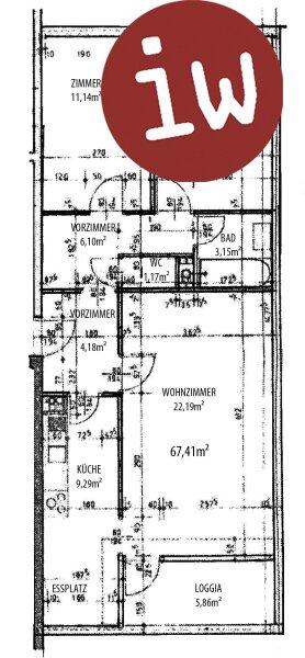 3 Zimmerwohnung mit Loggia in herrlicher Grünruhelage Objekt_608 Bild_124