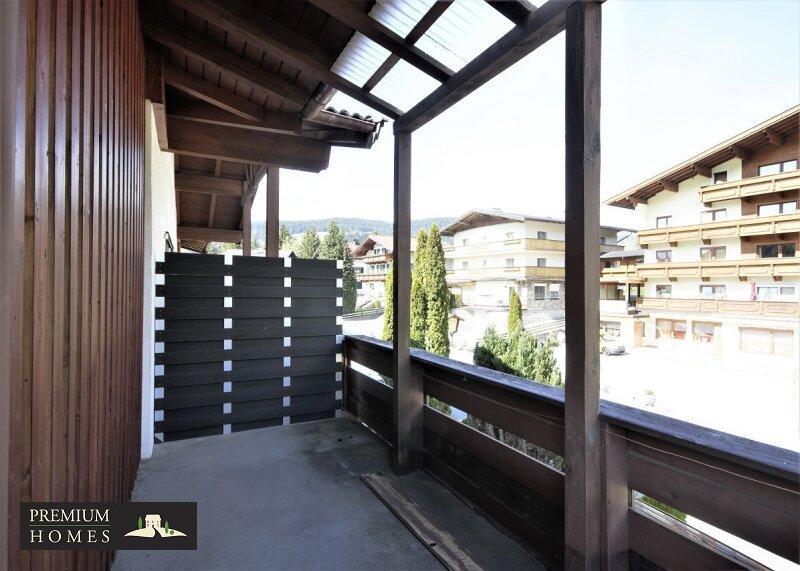 Itter - Eigentumswohnung - Balkonfläche zum Sitzen im Freien Richtung Nordosten
