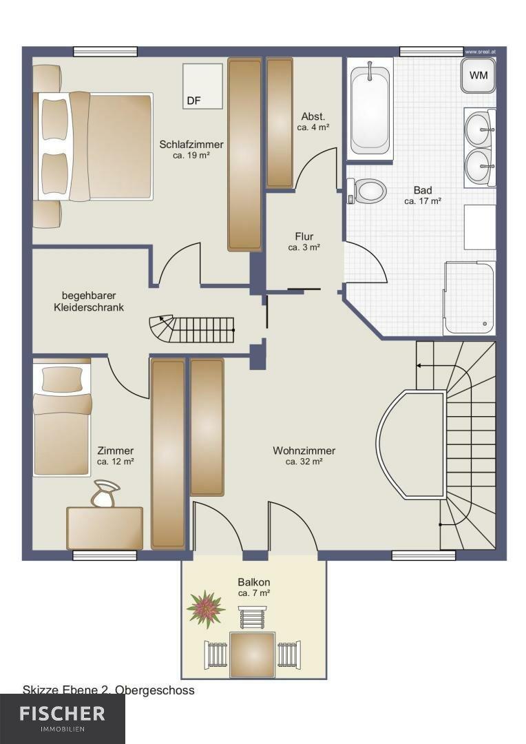 Ebene 2 Variante 3 Zimmer