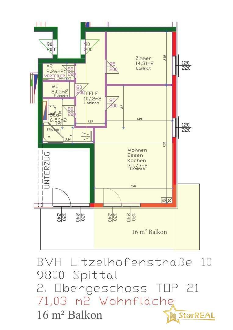 TOP 21 Variante 2 Zimmer