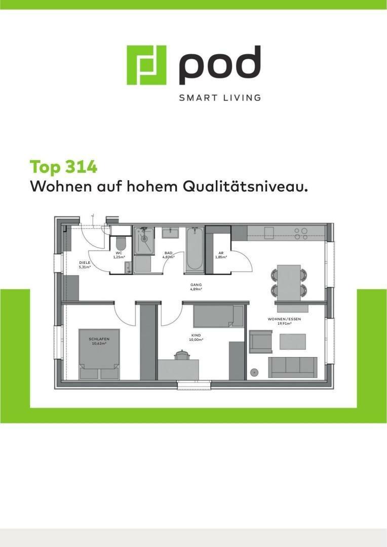 Wohnungsplan Top 314