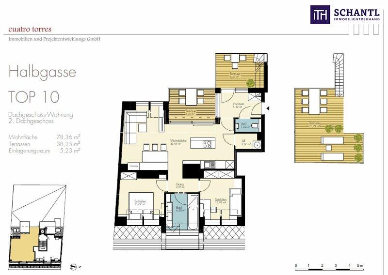 Halb 7 - Zeit zum Einziehen! Perfekt aufgeteilter Dachgeschoss-Traum mit 3 Terrassen! Wunderschönes Altbauhaus + Ruhelage! /  / 1070Wien / Bild 5