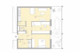 LEBE SMART! Provisionsfreie 3-Zimmer-Erstbezugswohnung
