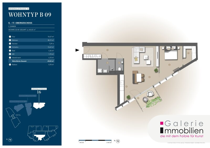 Traumhaft Wohnen am Belvedere - 2-Zimmer mit Balkon und Fernblick Objekt_35144 Bild_87