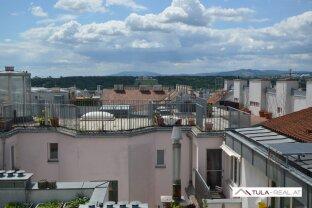 Loftartige 2-Zimmer-DG-Wohnung mit Terrasse | Blick über Wien | provisionsfrei