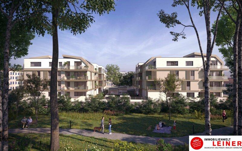 Provisionsfreie Mietwohnung - 2 Zimmer mit Loggia & Balkon - Niedrigenergiehaus - Neubau Objekt_13149 Bild_156