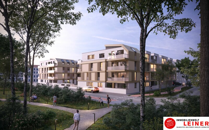 Provisionsfreie Mietwohnung - 2 Zimmer mit Loggia & Balkon - Niedrigenergiehaus - Neubau Objekt_13149 Bild_152