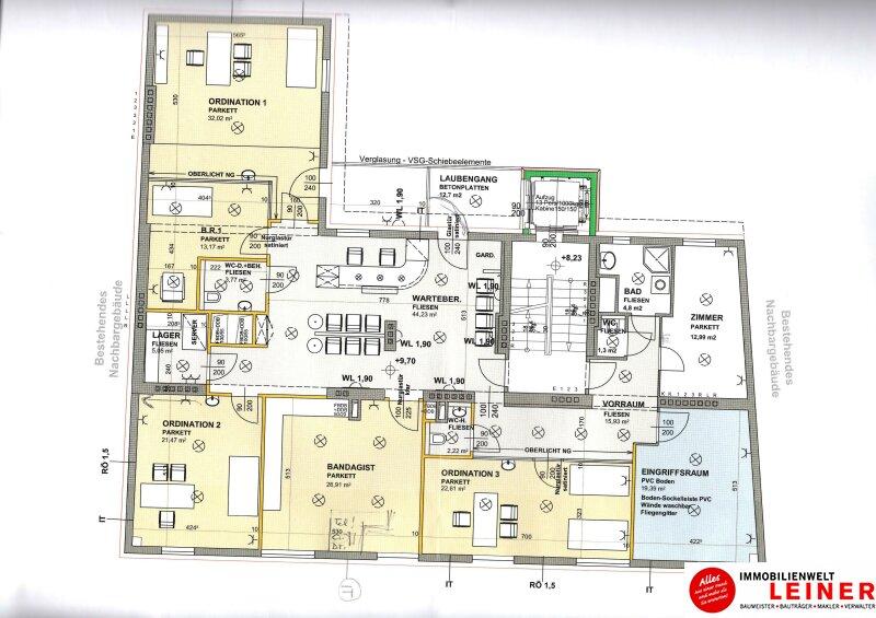 Schwechat - helle, großzügige Ordinationsräume in Gemeinschaftspraxis einzeln anmietbar Objekt_13907 Bild_213