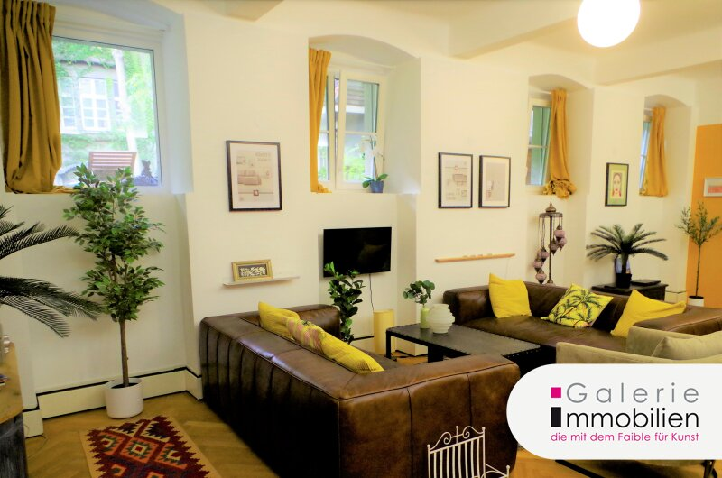 Gartenblick - Wohnen und Arbeiten in prächtigem Stilaltbau - Atelier/Büro/Studio - Gemeinschaftsgarten Objekt_34459