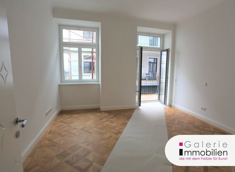 Traumhafte Altbauwohnung mit Balkon in revitalisiertem Biedermeierhaus Nähe Naschmarkt Objekt_34134