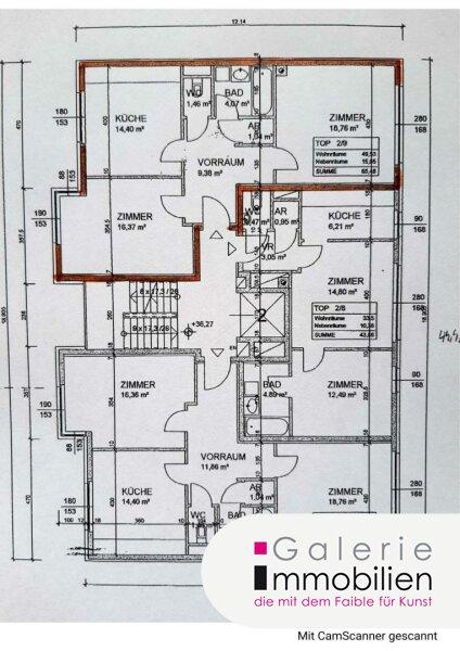 Unbefristet: Helle 2-Zimmer-Wohnung in absoluter Ruhelage mit toller Gemeinschaftsterrasse Objekt_34126 Bild_312