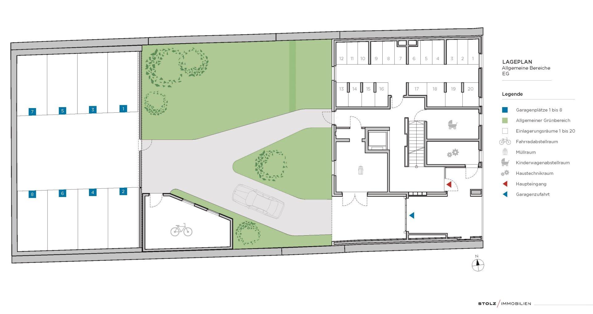Plan der Allgemeinflächen