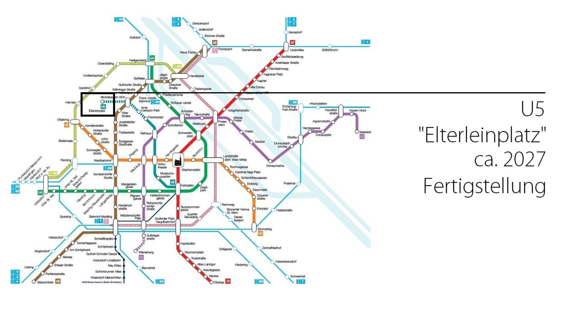 U-Bahn Plan U5 Elterleinplatz