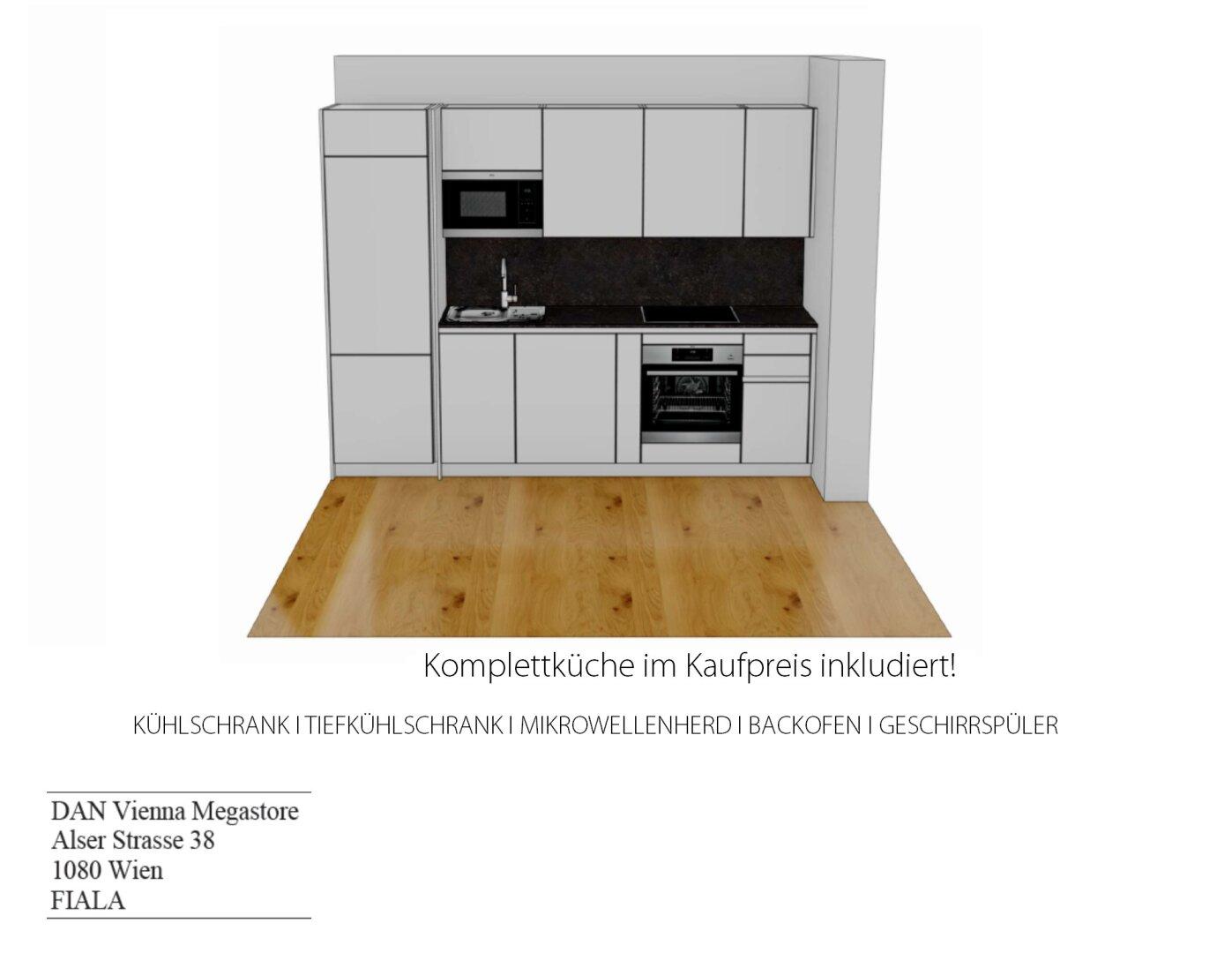Komplettküche im Kaufpreis inkludiert