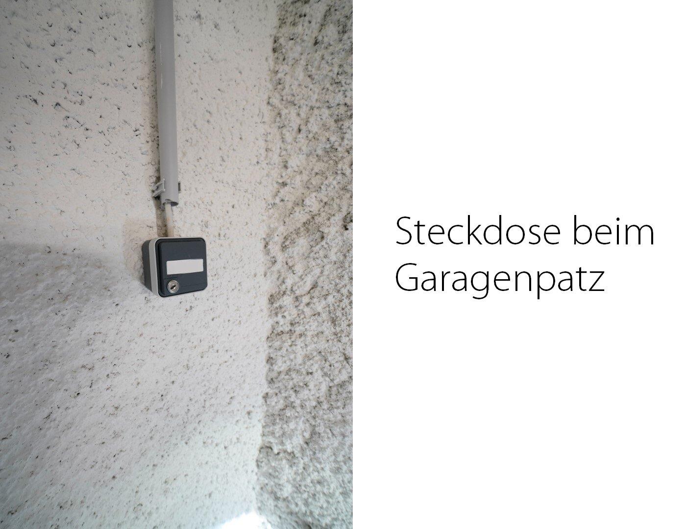 Steckdose bei Garagenplatz