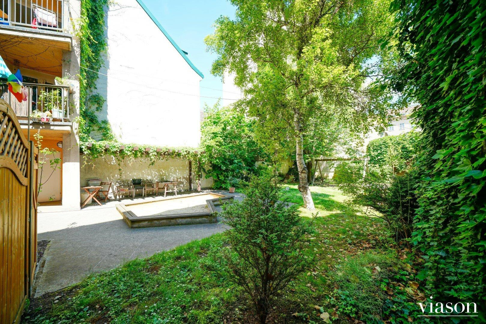 Gemeinschaftsgarten im Innenhof