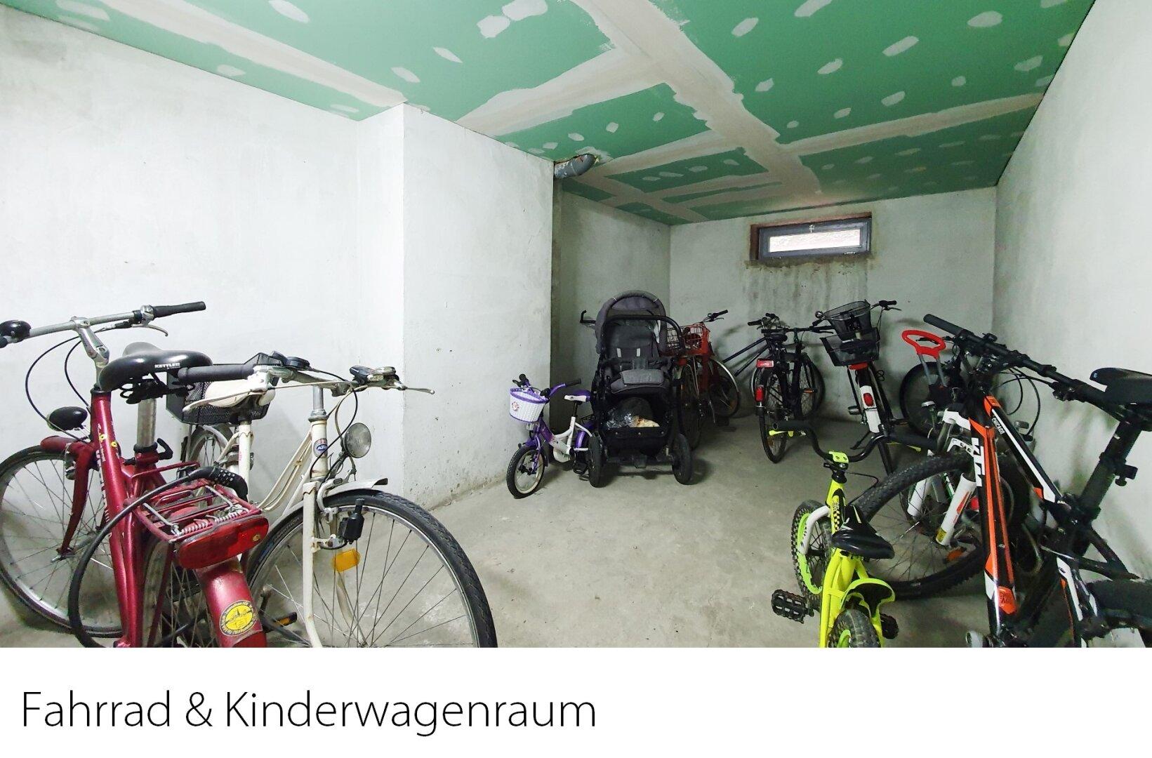 Fahrrad- und Kinderwagenabstellplatz