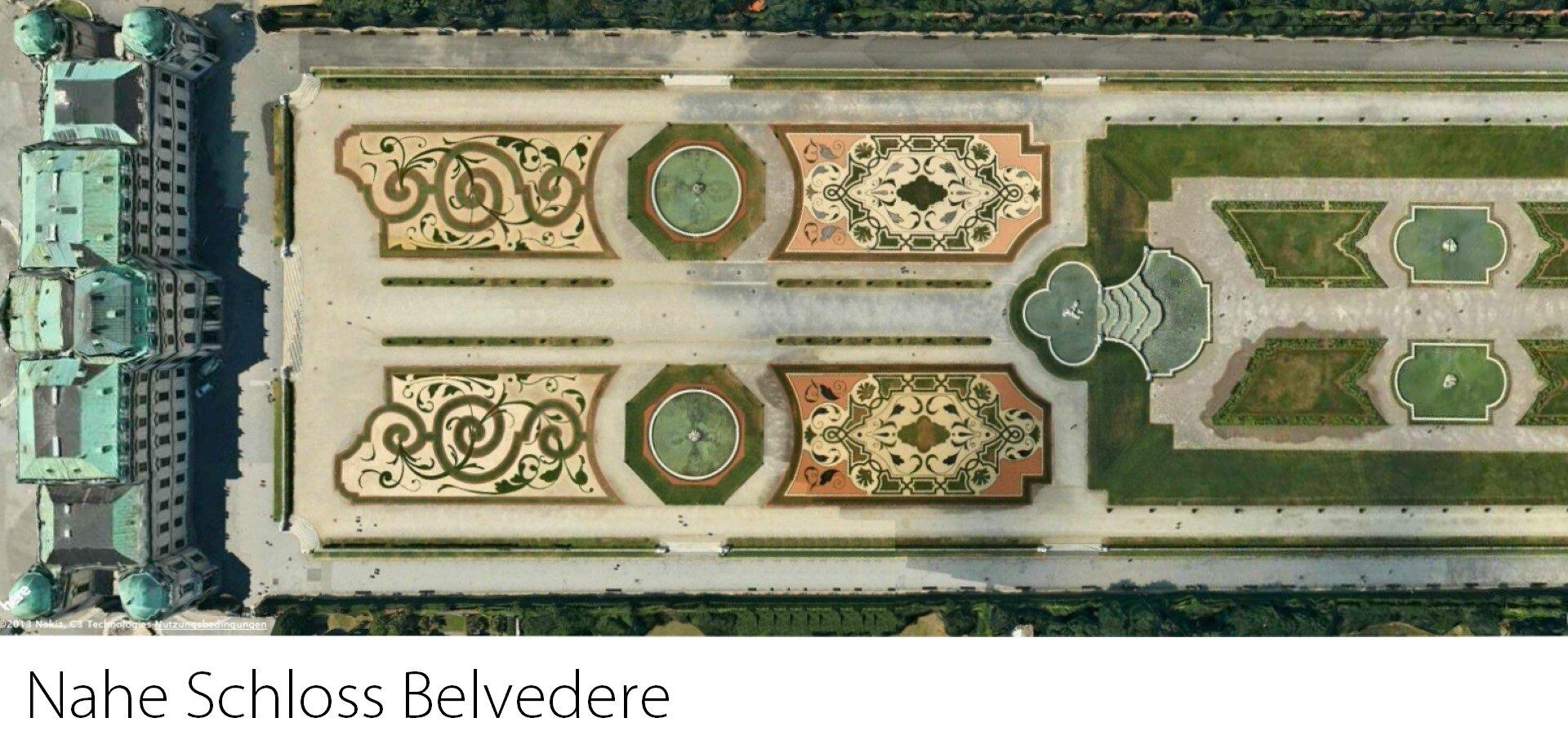 Nahe Schloss Belvedere