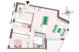 4-Zimmer Familienwohnung mit großer Loggia