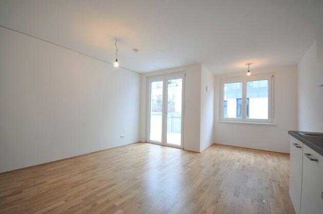 Foto von Ideal aufgeteilte 2-Zimmer Neubauwohnung samt Balkon neben dem Kagranerplatz