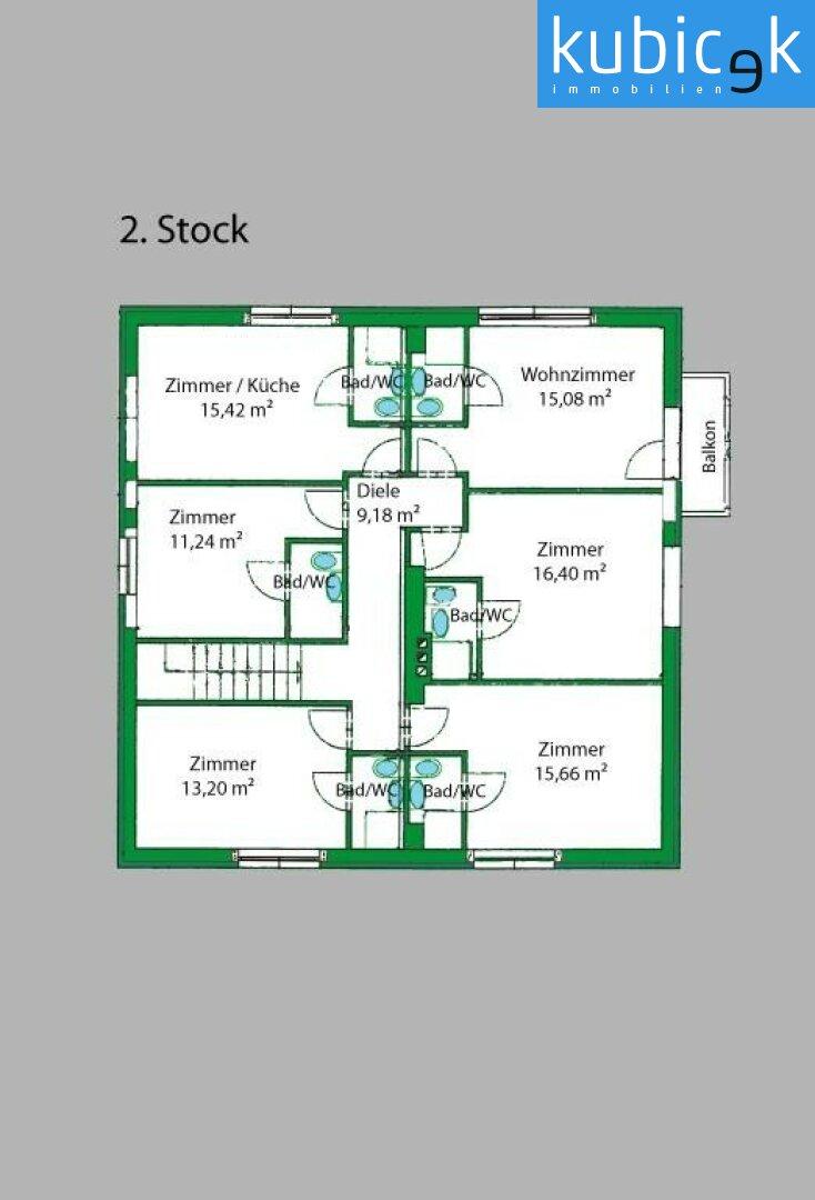 Plan - EG und 1. Stock