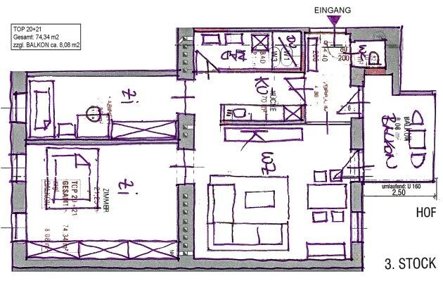 Foto von NEU! ++ KERNSANIERT + 3 Zimmer Altbau-Wohnung mit BALKON in 1050 Wien ++