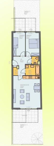 Sehr ruhige 3 Zimmergartenwohnung mit 2 Terrassen, gut geschnitten, Neubau Erstbezug, provisionsfrei! /  / 1230Wien / Bild 7