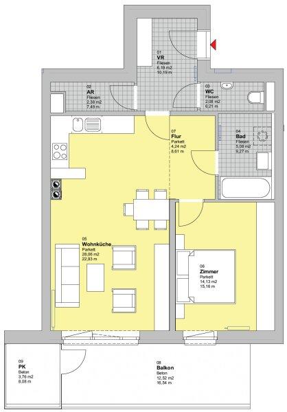 Moderne Neubaumietwohnung mit Balkon in Gerasdorf - Top 13 /  / 2201Gerasdorf bei Wien / Bild 2