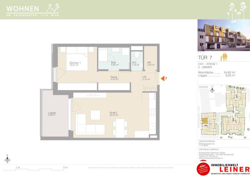 Eigentum ist Eigentum - 2 Zimmer Eigentumswohnung - Provisionsfrei - Terrasse - Loggia Objekt_15333 Bild_193
