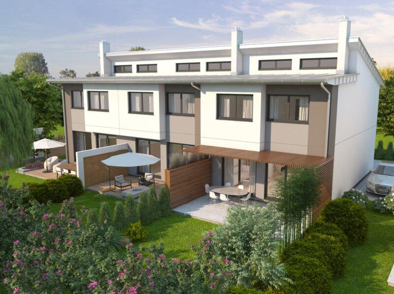 Ohne Maklerprovision: belagsfertiges Reihenhaus in Stadtnähe mit schönem Garten
