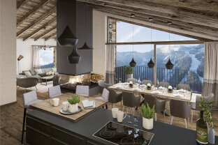 """New construction project """"Schmitten Lodges"""" in Zell am See - Exclusive luxury villa directly on the ski slope for sale"""