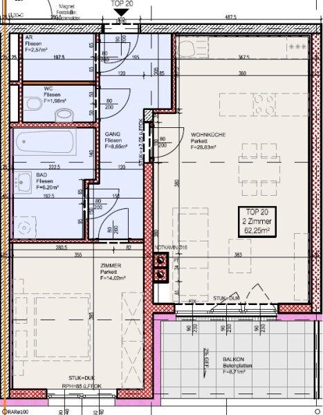 Top 20 - Freifinanzierte 2 Zimmer Wohnung mit Balkon - MIETEN oder MIETKAUF /  / 2700Wiener Neustadt / Bild 4