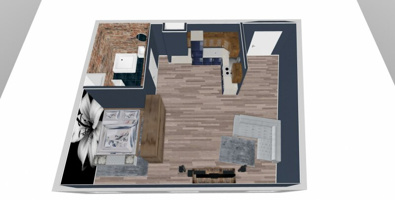 1 Zimmer Wohnung, Erstbezug.
