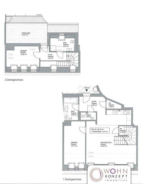 Erstbezug: 97m² Dachausbau + 14m² Terrasse mit Einbauküche - 1090 Wien /  / 1090Wien / Bild 5