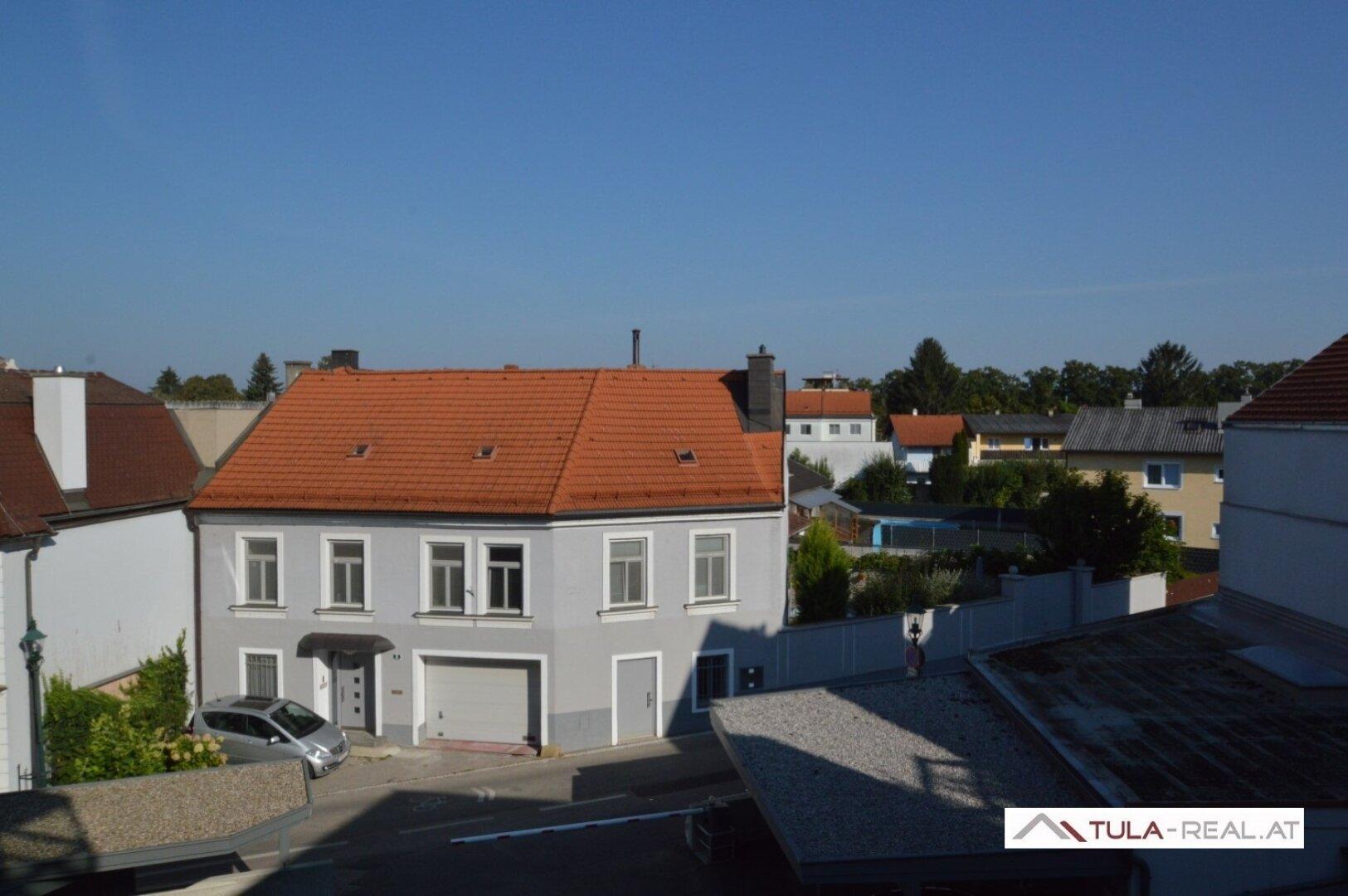 Ausblick Kerschbaumergasse (vom Balkon)